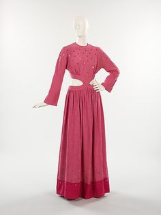 Dress, Evening Bonnie Cashin  (American, 1915–2000) Manufacturer: Eunice Cashin (American)  Date: ca. 1945  Culture: American  Medium: silk