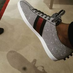 This Gucci sneaker... flossy or too glossy?