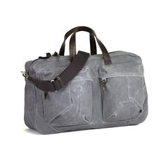 Tommy Trip Bag Grey | WAXED CANVAS | LEATHER |STYLISH BAGS | CLASSIC DESIGN | MEN'S BAGS | TRAVEL |