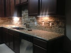 DIY Airstone backsplash!!  I am SO doing this around the fireplace! Would also be great on the kitchen backsplash!