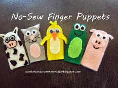 No-sew finger puppets for quiet book