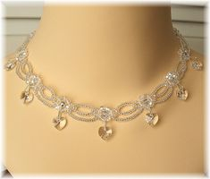 Scalloped Edged Bridal Necklace,