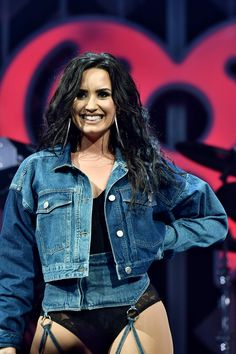 Demi Lovato performing at Y100 Jingle Ball 2017 in Sunrise