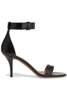 GABRIELLE'S AMAZING FANTASY CLOSET | Heel measures approximately 80mm/ 3 inches Black leather Open almond toe Buckle-fastening ankle strap Made in Italy | You can see the Rest of the Outfit and my Remarks on this board.  -  Gabrielle