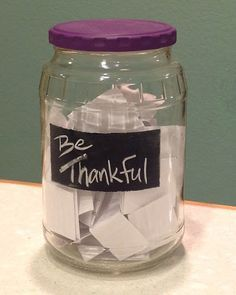 Creativity in Therapy: Gratitude Jar -- An Activity to Focus on Thankfulness  Had a wonderful time making these last Thanksgiving. Highly recommend it!