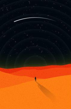 The Martian Art Print by esecamalich - The Martian ~ Minimal Movie Poster by Sergio Camalich - Minimal Movie Posters, Minimal Poster, Vaporwave Anime, Posca Art, Plakat Design, Illustrations, Illustration Art, Kunst Poster, Alternative Movie Posters