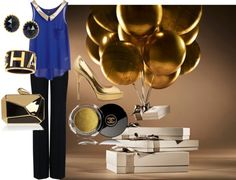 """""""Blue and Gold"""" by michelle-barrientos on Polyvore"""