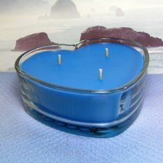 Ocean Mist PURE SOY Heart Container Candle 16 oz.