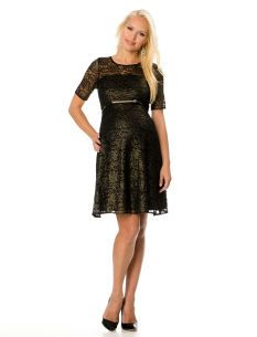 $129.99 - Donna Morgan Lace Belted Maternity Dress