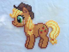 Applejack - My Little Pony Friendship is Magic perler beads by PrettyPixelations