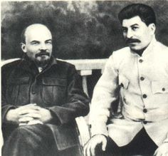 Russian Communist leaders Vladimir Lenin and Joseph Stalin relax. Vladimir Lenin, Joseph Stalin, Royal Art, Russian Culture, History Page, Red Army, European History, Life Moments, Soviet Union