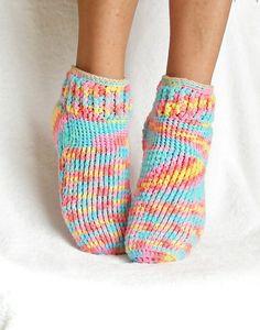 Crochet Pattern Socks Seamless Sweater All Sizes PDF by Genevive, $4.95