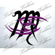 Zodiac sign combination tattoo   Cancer and Virgo meet #44061 ...