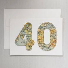 """Biglietto d'auguri con """"mappa dell'età"""""""