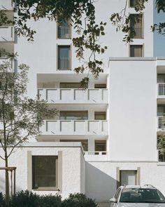 Housing Facade Plaster Balcony Foundation Peter Märkli, Im Gut Housing, Zurich, 2012 www.studiomaerkli.com/