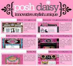 Girly Web Design | Posh Daisy | Pinterest | Girly, Design and Web ...