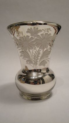 Antique Mercury Glass Vase  Hand Blown an Hand by Lifeinmommatone, $51.00
