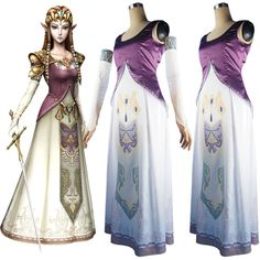 Legend of Zelda princess Zelda cosplay costume halloween costume princess Zelda dress prom dress ball dress elegant gift for girls women lovers - Kids costumes Ball Dresses, Ball Gowns, Prom Dresses, Dress Prom, Elegant Dresses, Nice Dresses, Girls Dresses, Legend Of Zelda Costume, Zelda Dress