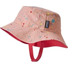 3ad59fc0aa7 Patagonia - Baby Sun Bucket Hat - Kids  - Sequoia Splatter Feather Pink Baby