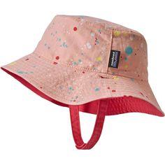 Patagonia - Baby Sun Bucket Hat - Kids  - Sequoia Splatter Feather Pink Baby 79b020f41f2c