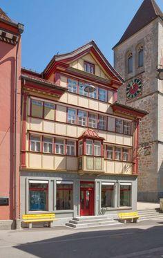 Village of Appenzell, Switzerland.