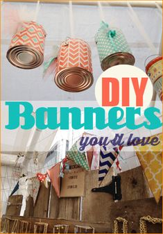 Banners for any Occasion.  Creative DIY party banner ideas.