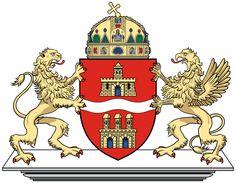 'Budapest Coat of Arms, Hungary' by Tonbbo San Salvador, Austria, Hungarian Flag, City Logo, Budapest Hungary, Budapest City, Flag Design, Crests, Coat Of Arms
