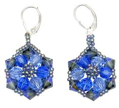 How To Make Swarovski Crystal Earrings Tutorials The Beading Gem S Journal Seed Bead