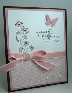 beautiful Mothers Day card : Up in the Air Hostess set 122477