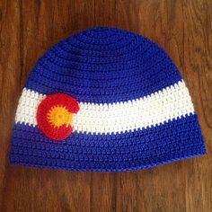 Items similar to Crochet Colorado Flag Beanie on Etsy Mountain Hat, Crochet Clothes, Knit Crochet, Colorado, Flag, Beanie, Knitting, Trending Outfits, Crochet Ideas