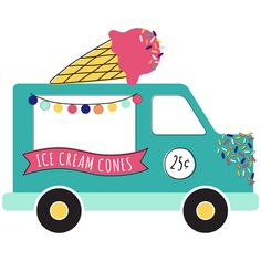 Host an ice cream party to celebrate any occasion. Use these .svg files with your Silhouette or Cricut to create ice cream party decorations in a flash.