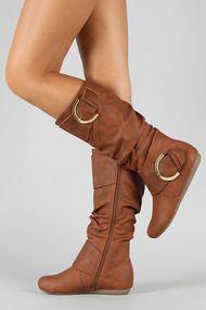 Bank-85 Buckle Slouchy Knee High Boot...cute!