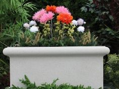 The Chelsea Trough Garden Planter is lower and wider than the other models in the line to allow you even more flexibility. It also can be ordered in three different sizes, to fit any outdoor area that needs a little sprucing up for the summer months.