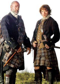 Dougal and Jamie. Can't resist men in kilts!! Eeeekkkk