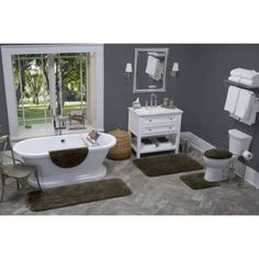 Better Homes and Gardens Extra Soft Bath Rug, Brown