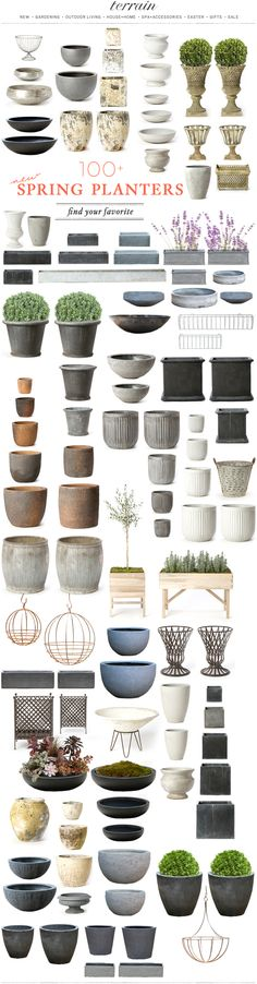 TERRAIN: Creams / tin / concretes for the perfect neutral looking garden.