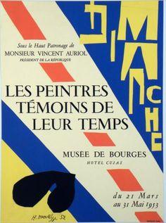 Original Künstler Plakat Matisse Original Artist Poster Matisse Affiche original Henri Matisse  title Les Peintres Témoins de leur Temps  technology Lithography in 4 colors