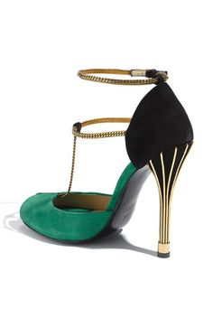Gucci Chain Strap Mary Jane Sandal - from the back. GORGEOUS