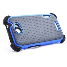 $11.95 > 10% Coupon Code : Pinthis Black Blue X Shield Double Layer Hard Case Gel Cover For HTC One X