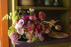 Seasonal spring arrangement by Flying Bear Farm + Design www.flyingbearfarm.com Wedding Events, Floral Wreath, Bear, Seasons, Spring, Plants, Design, Home Decor, Floral Crown