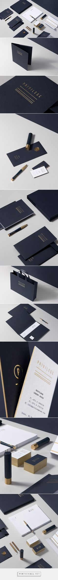 Privilege on Behance. - a grouped images picture - Pin Them All Corporate Identity Design, Brand Identity Design, Visual Identity, Stationary Branding, Hotel Branding, Business Branding, Business Card Design, Stationery, Graphisches Design