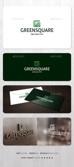 Green Square  Logo Design Template Vector #logotype Download it here: http://graphicriver.net/item/green-square-logo/15713243?s_rank=21?ref=nexion