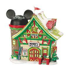Department 56 Disney Village Lit House, Mickey's Ski Chalet Disney Christmas Village, Christmas Village Display, Mickey Mouse Christmas, Christmas Party Games, Christmas Villages, Outdoor Christmas Decorations, Disney Mickey Mouse, Minnie Mouse, Christmas Ornaments
