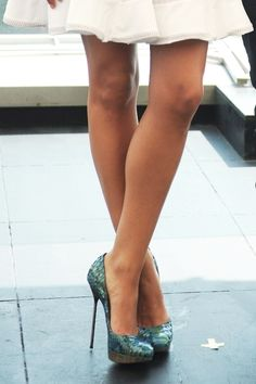 Turquoise Pumps.