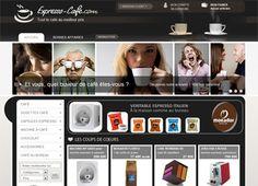 Réalisation #DediServices : la boutique en ligne Expresso-cafe.com (machines et dosettes expresso, cafés grains, ...)
