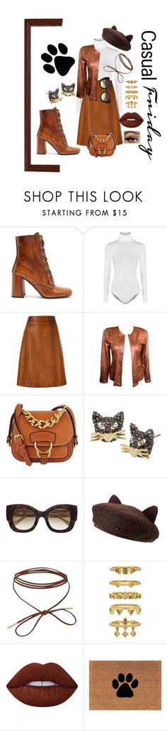 """""""Casual"""" by chantelle3798 ❤ liked on Polyvore featuring Prada, Wolford, Miu Miu, Betsey Johnson, Thierry Lasry, Luv Aj, Lime Crime and friday"""
