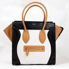 6389e9820f Celine Bags Boston Smile Leather Bags Black White Apricot Celine Bag Luggage