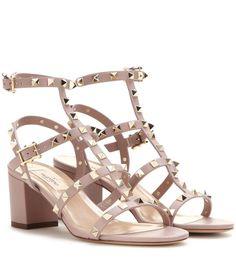 VALENTINO Rockstud Leather Sandals. #valentino #shoes #sandals