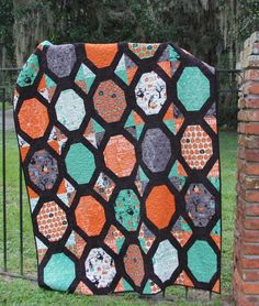New Halloween Quilt Patterns | ... quilt. I have some fat quarters from this collection too, so I see