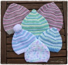 Linda's Crafty Corner: My Free Patterns ~ Pixie Hats ~ FREE CROCHET pattern